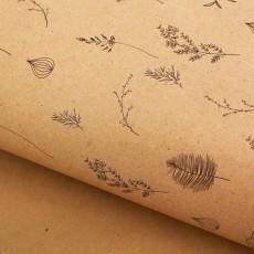 Бумага крафт «Ботаника», 50 х 70 #10777