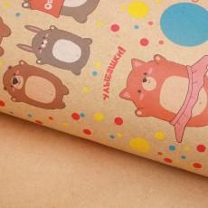 Бумага упаковочная крафтовая «Веселяшки», 50×70 #10780