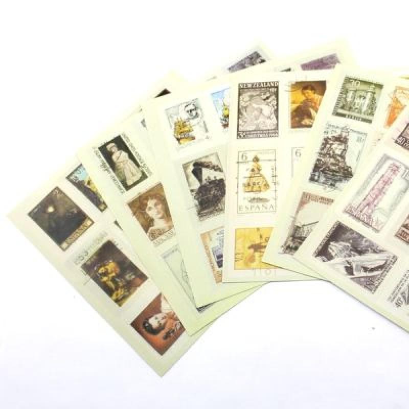 Самоклеющиеся марки 12 шт #4792