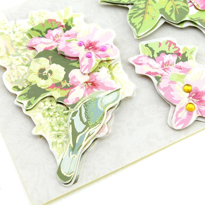 Декоративные 3D наклейки Flowers Тип2 #10383