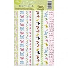 Наклейки‒тесьма «Бабочки» #10871