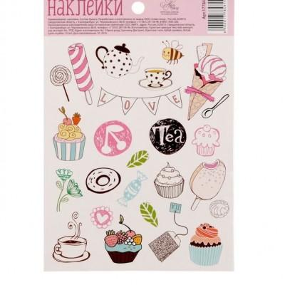 Бумажные наклейки «Любимые сладости», 11х16 #10893