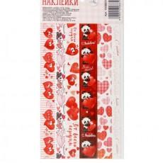 Наклейки‒тесьма «С любовью», нежные сердечки #10901