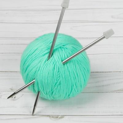 Спицы для вязания, прямые, d=5мм, 20см, 2шт #10779