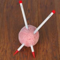 Спицы для вязания, прямые, d=15мм, 40см, 2 шт #10825