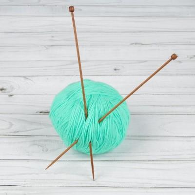 Спицы для вязания, прямые, d = 3 мм, 25 см, 2 шт #11179