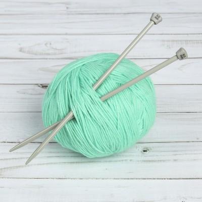 Спицы для вязания, прямые, d = 5 мм, 20 см, 2 шт #11218