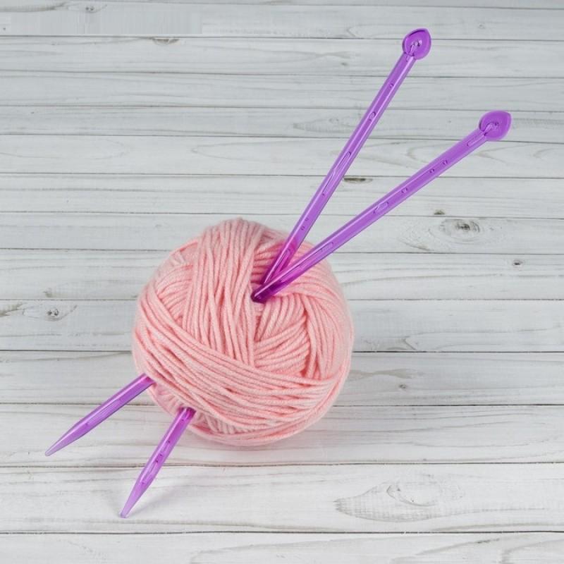 Спицы для вязания, прямые, d=9мм, 35см, 2шт #11489