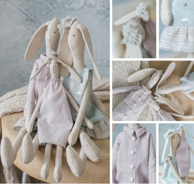 Набор для шитья  «Домашние зайки Майкл, Деби и Сара» #10743