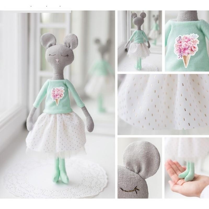 Мягкая игрушка «Сонная мышка Милли» #11540