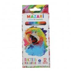 Пастель масляная 12 цв MAZARI Safari, 73мм, d-10мм #10919