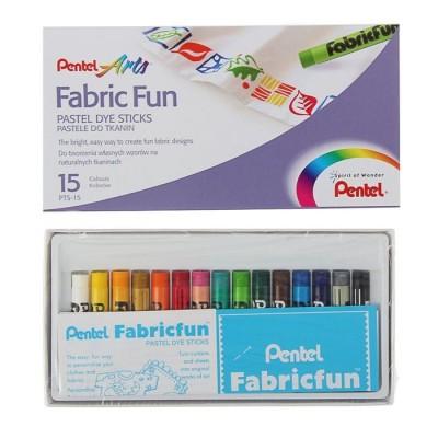 Пастель для ткани Pentel FabricFun Pastels 15цв 8/60мм #11237