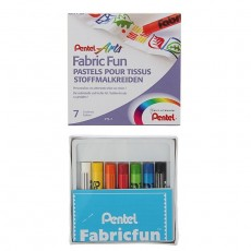 Пастель для ткани Pentel FabricFun Pastels 7 цв 8/60мм #11238