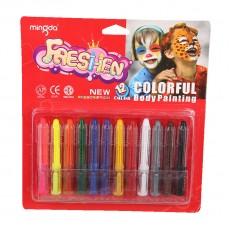Грим-карандаши для лица и тела, 12 цветов #11304