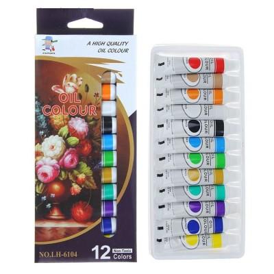 Краски масляные, 12 цветов, 12 мл #11478