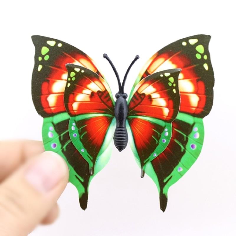 Бабочки 2 пары крыльев 70мм #4655