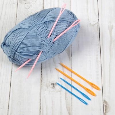 Набор игл для сшивания пряжи d =2-3мм, 7-9-15см, 6шт #11488
