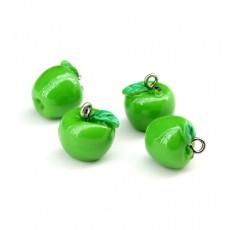 Подвеска зелёное яблоко #1464