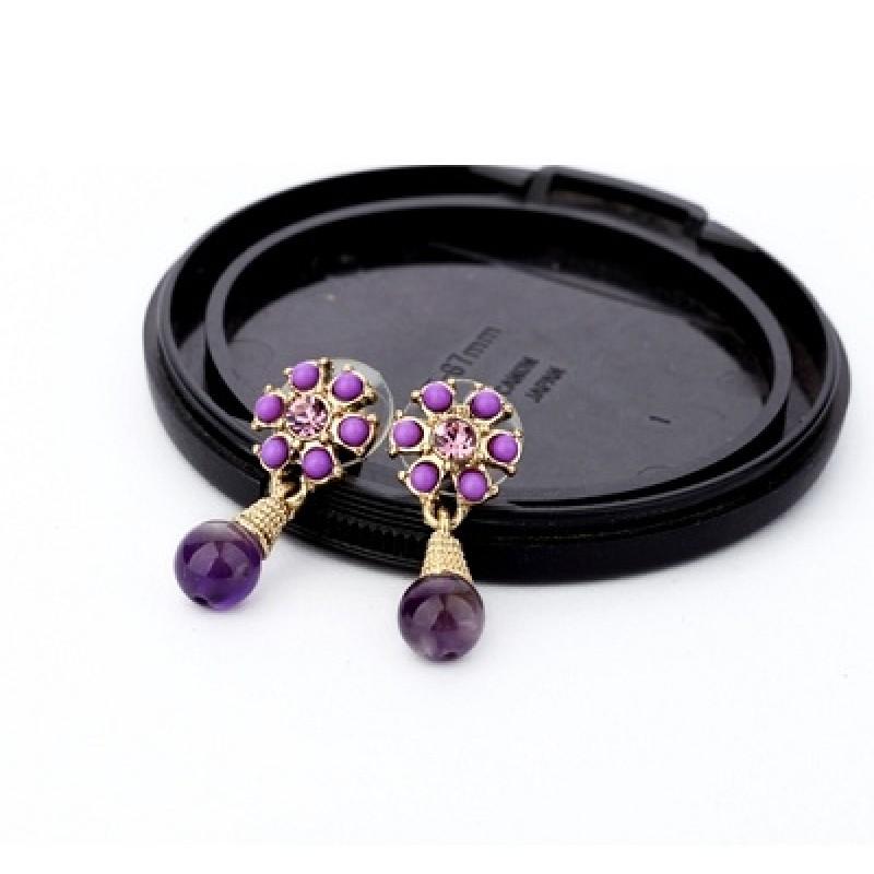 Фиолетовые Серьги #3251