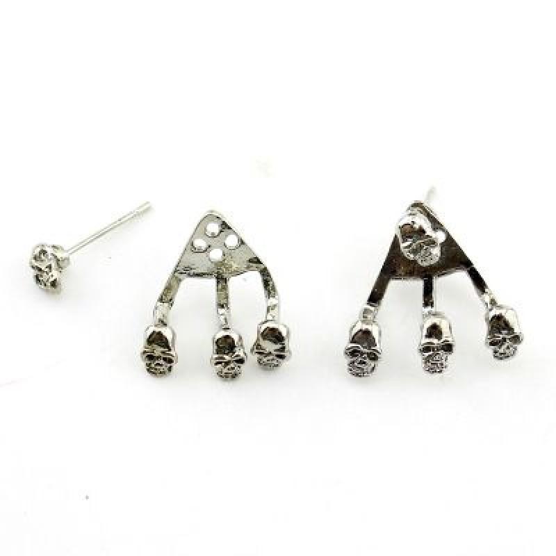Серьги Skull #7804