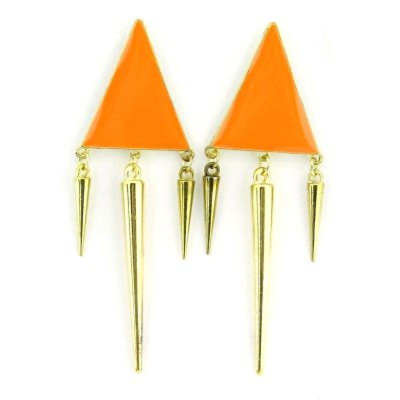 Серьги Треугольник и Шипы #2690