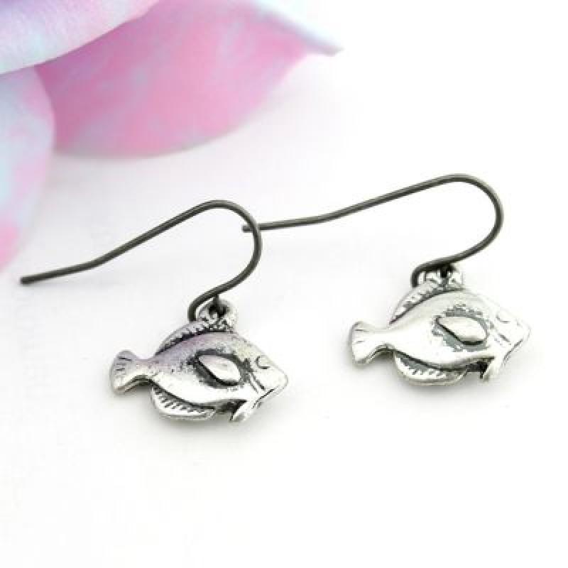 Симпатичные серьги-рыбки #4460