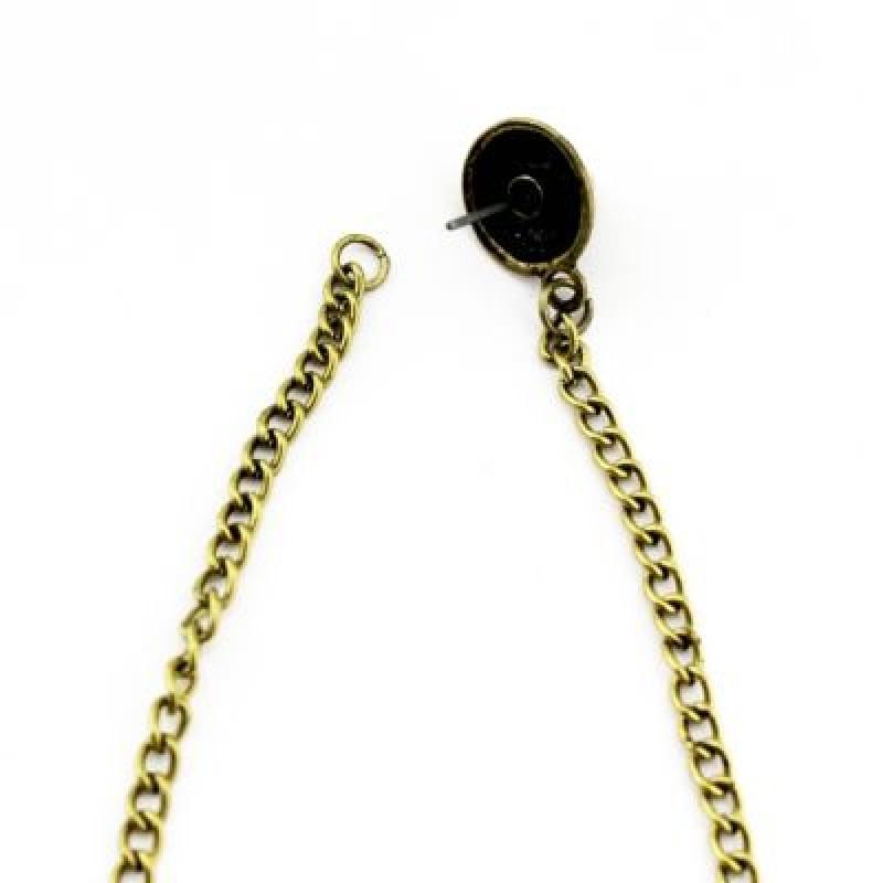 Серьги Шипы и цепочки #4891