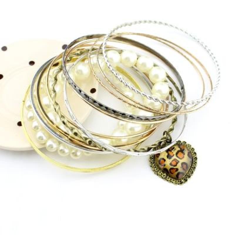 Набор браслетов Леопардовое Сердце #1243