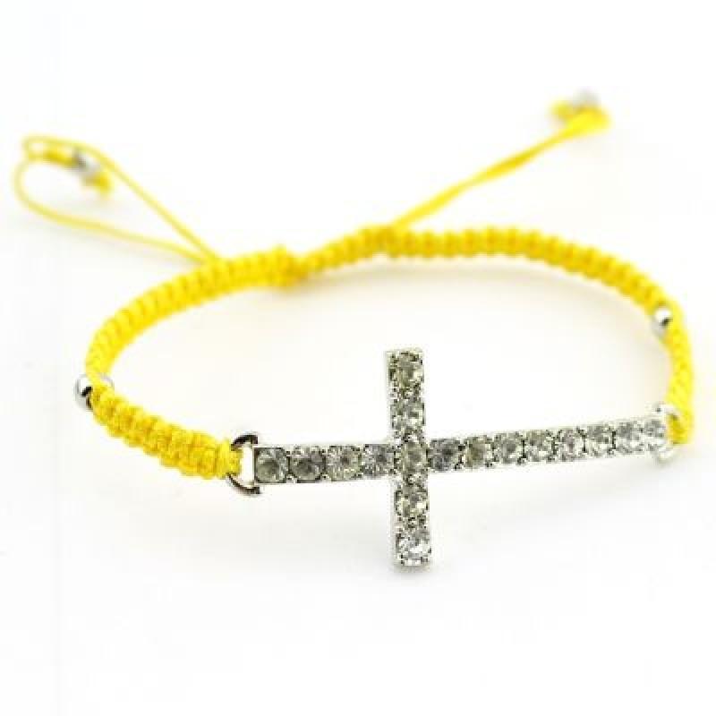 Браслет Крест со Стразами #4972