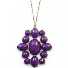 Фиолетовый Кулон #4226