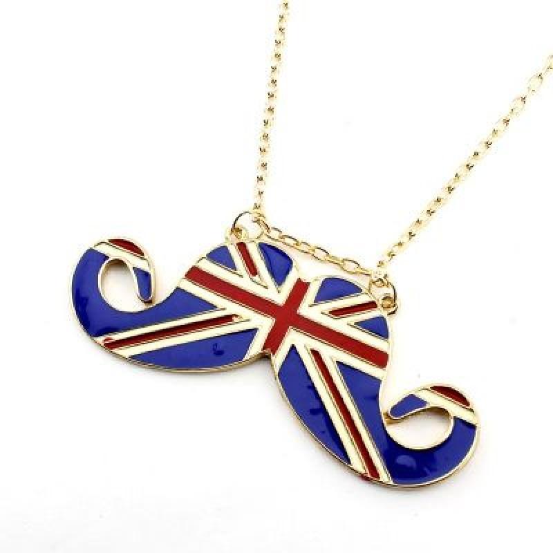 Кулон Усы Британский флаг #5154