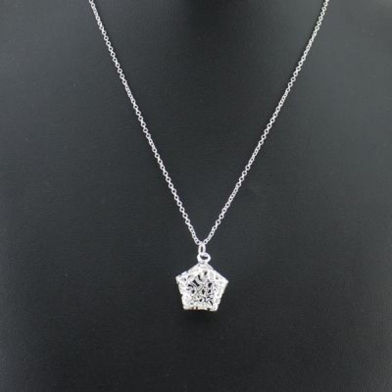 Посеребренный кулон Ажурная звезда #4551