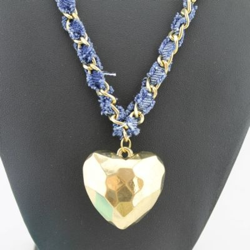 Кулон Золотое сердце #4225