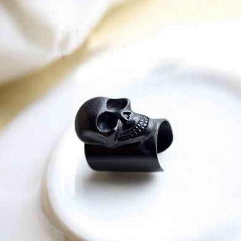 Серьги-каффы с черепом #7561