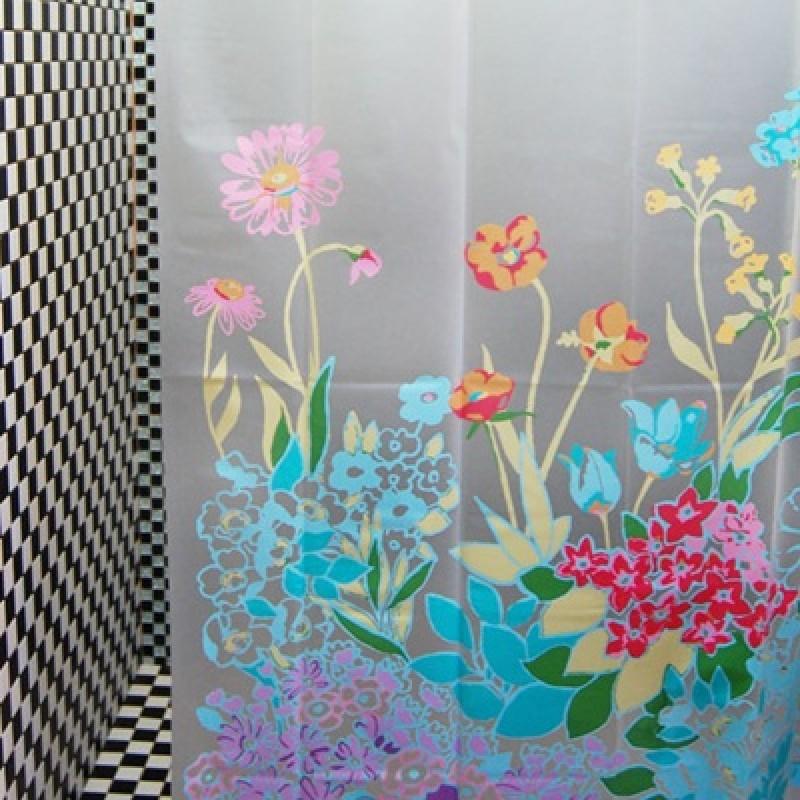 Занавеска для душа Цветы #7734