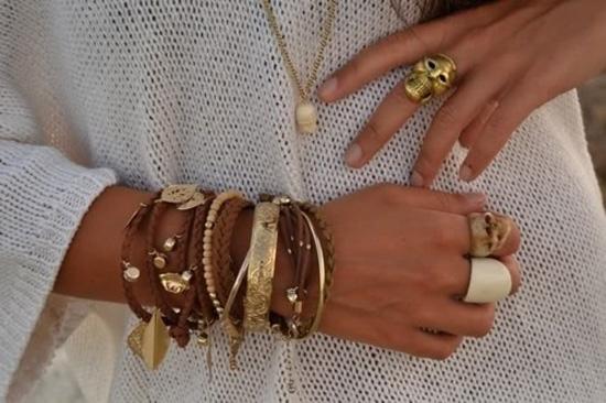 Браслеты комбинированные своими руками